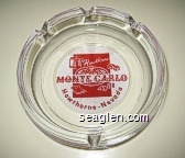 Hawthorne Monte Carlo, Hawthorne, Nevada - Red on white imprint Glass Ashtray