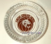 MGM Grand Hotel, Las Vegas - Red on white imprint Glass Ashtray
