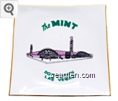 The Mint, Downtown Las Vegas - Green, pink and black imprint Porcelain Ashtray
