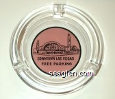 The Mint, Downtown Las Vegas, Free Parking - Black on pink imprint Glass Ashtray