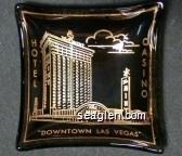 The Mint Hotel Casino ''Downtown Las Vegas'' - Gold imprint Glass Ashtray