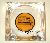 Keith's Model T Truck Stop, Hwy. 40 West - Winnemucca, Nev - Black on yellow imprint Glass Ashtray