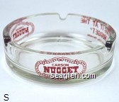 Carson Nugget, ''I Dug It At The Nugget'', Carson City, Nevada - Red imprint Glass Ashtray