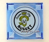 Carson City Nugget - Black and yellow imprint Glass Ashtray