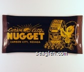 Carson City Nugget, Carson City Nevada, Home of More Jackpots! - Yellow imprint Glass Ashtray