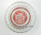 Del Webb's Nevada Club, Laughlin, Nevada - Red on white imprint Glass Ashtray