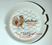 Golden Rooster Kentucky Fried Chicken, Featured at … Dick Graves Nugget Casino, Sparks, Nevada - Orange and black imprint Porcelain Ashtray