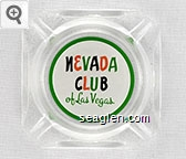 Nevada Club of Las Vegas - Red, green and black imprint Glass Ashtray