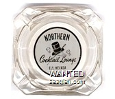 Northern Cocktail Lounge, Ely, Nevada - Black on white imprint Glass Ashtray