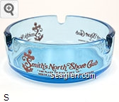 Smith's North Shore Club, The Place To Dine Since ''49'' North Lake Tahoe, Crystal Bay, Nevada - Red imprint Glass Ashtray