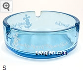 Smith's North Shore Club, The Place To Dine Since ''49'', North Lake Tahoe - Crystal Bay, Nevada - White imprint Glass Ashtray