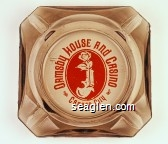 Ormsby House and Casino, Carson City - Orange imprint Glass Ashtray