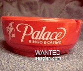 Palace Bingo & Casino - White imprint Bakelite Ashtray