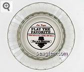 Las Vegas, Play the Favorite… 1-800-634-3101 / (702) 367-2411Palace Station Hotel - Casino - Red and black imprint Glass Ashtray