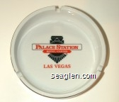 Palace Station, Hotel - Casino, Las Vegas - Red and black imprint Porcelain Ashtray