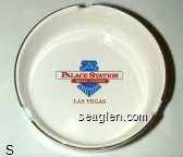 Palace Station, Hotel - Casino, Las Vegas - Red and blue imprint Porcelain Ashtray