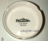 Palace Station, Hotel & Casino, Las Vegas, Nevada - Black imprint Porcelain Ashtray