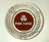 PaRK taHOE - White on brown imprint Glass Ashtray