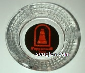 Peppermill, Reno, 1-800-648-6992 - Orange on brown imprint Glass Ashtray