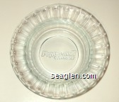 Peppermill Hotel Casino - Molded imprint Glass Ashtray