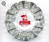 Pioneer Hotel & Gambling Hall, Laughlin - Nevada - Red imprint Glass Ashtray