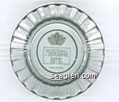 Ponderosa Hotel, Reno, Nevada - Green imprint Glass Ashtray
