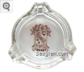 Piccadilly, Venite Vos Prodigi, Reno - Red on white imprint Glass Ashtray