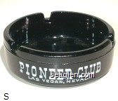 Pioneer Club, Las Vegas, Nevada - White imprint Glass Ashtray