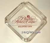 The Playboy Hotel & Casino, Atlantic City - Red imprint Glass Ashtray