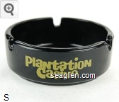 Plantation Casino - Yellow imprint Glass Ashtray