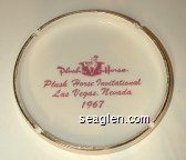 Plush Horse, Plush Horse Invitational, Las Vegas Nevada, 1967 - Purple imprint Ceramic Ashtray