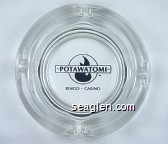 Potawatomi Bingo - Casino - Black imprint Glass Ashtray