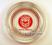 Pit River Casino, Burney, California - Red imprint Glass Ashtray