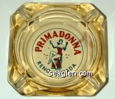 Primadonna, Reno - Nevada - Red and blue imprint Glass Ashtray