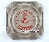 Del Webb's Primadonna Reno Nevada - Red on white imprint Glass Ashtray
