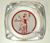 the Primadonna, Reno - Red on white imprint Glass Ashtray