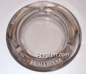 Primadonna, Club, Reno - White imprint Glass Ashtray