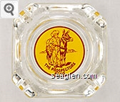 The Prospectors, Reno - Brown on yellow imprint Glass Ashtray