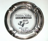 Primm Valley Resort & Casino, Bonnie & Clyde's Death Car - Black imprint Glass Ashtray
