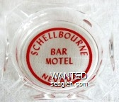 Schellbourne, Bar Motel, Nevada - Red imprint Glass Ashtray