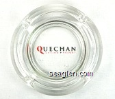 Quechan Casino - Resort - Red and black imprint Glass Ashtray