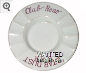 Club Reno, Stardust Bar - Red imprint Porcelain Ashtray