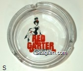 Red Garter Casino - Red and black imprint Glass Ashtray