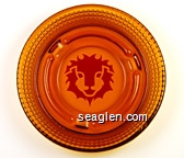 (Red Lion logo) - Red imprint Glass Ashtray
