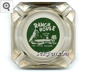 Ranch House Supper Club, Las Vegas, Nevada - Green on white imprint Glass Ashtray