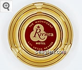 The Magnificent Riviera Hotel, Las Vegas, Nevada - Red on white imprint Glass Ashtray
