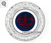 Hotel Royal Nevada, Las Vegas Nevada - Red on blue imprint Glass Ashtray