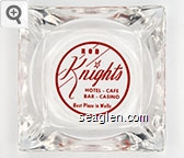 Rod Knight's Hotel - Cafe Bar - Casino, Best Place in Wells - Red imprint Glass Ashtray