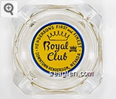 Henderson's First and Finest, Royal Club, Downtown Henderson, Nevada - Blue on yellow imprint Glass Ashtray