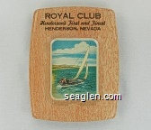 Royal Club, Henderson's First and Finest, Henderson, Nevada - Black imprint Metal Ashtray